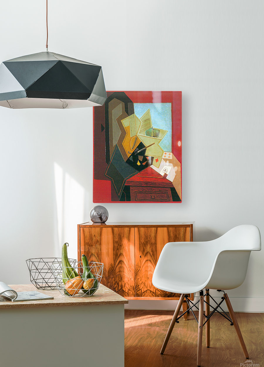 The window of the painter by Juan Gris  HD Metal print with Floating Frame on Back