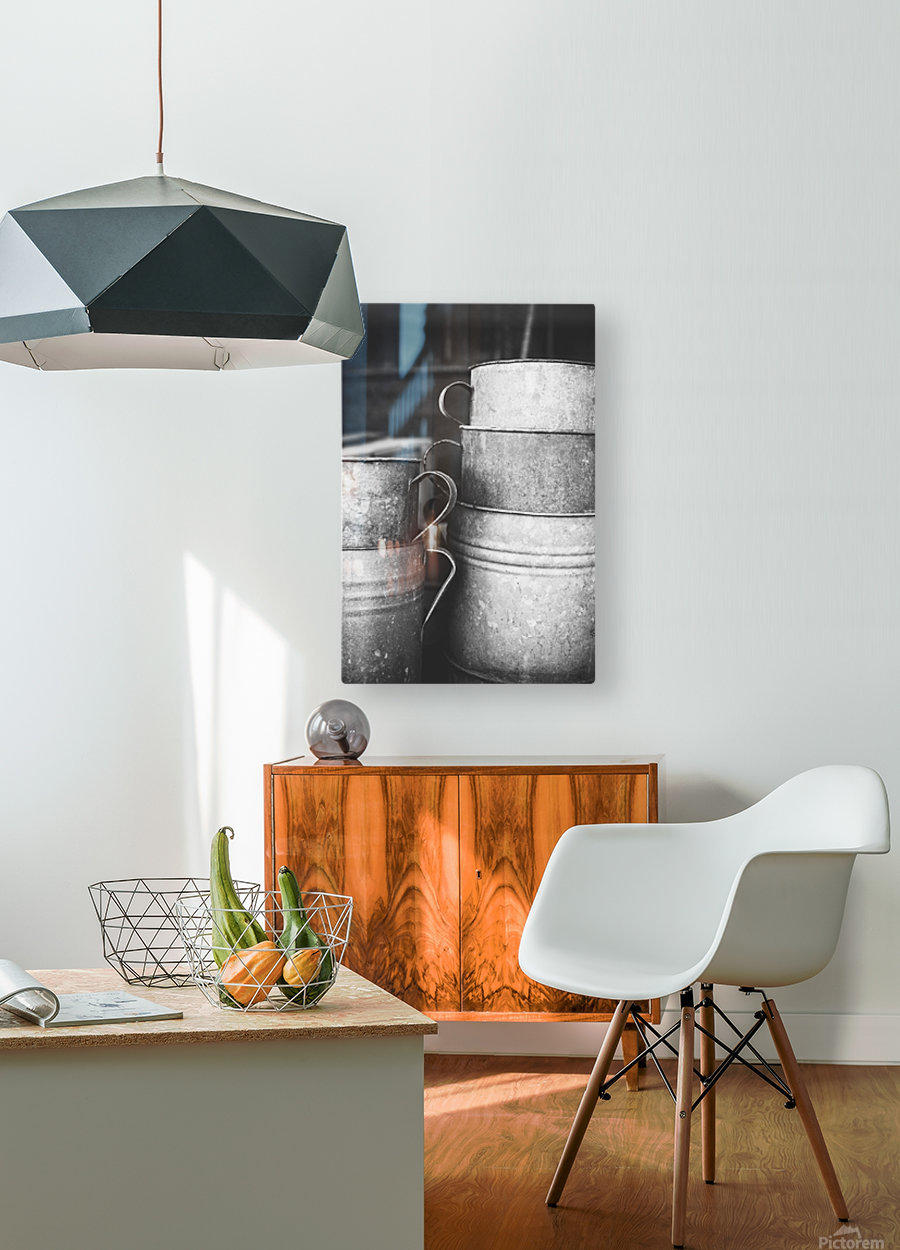 Stacked  HD Metal print with Floating Frame on Back