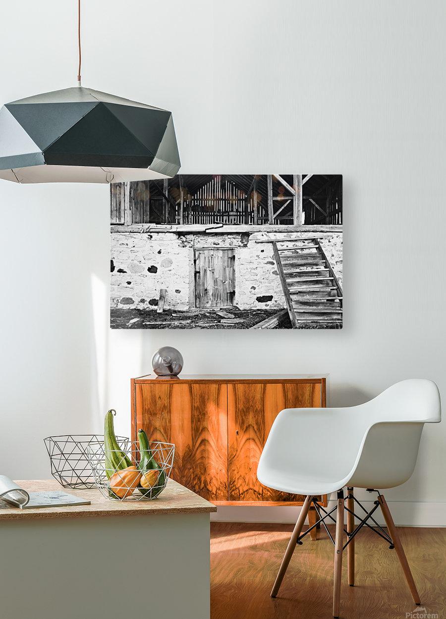 Barn Steps  HD Metal print with Floating Frame on Back