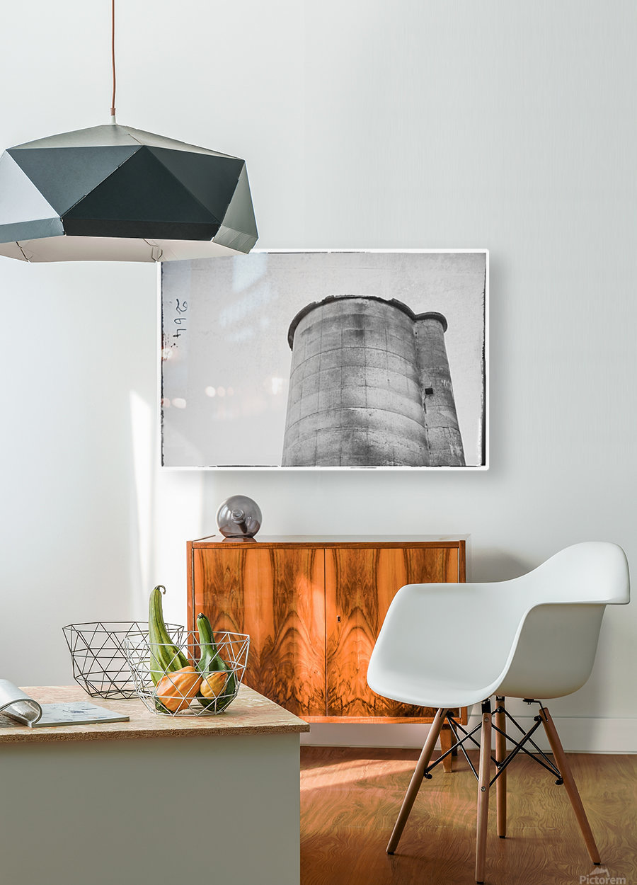 Silo  HD Metal print with Floating Frame on Back