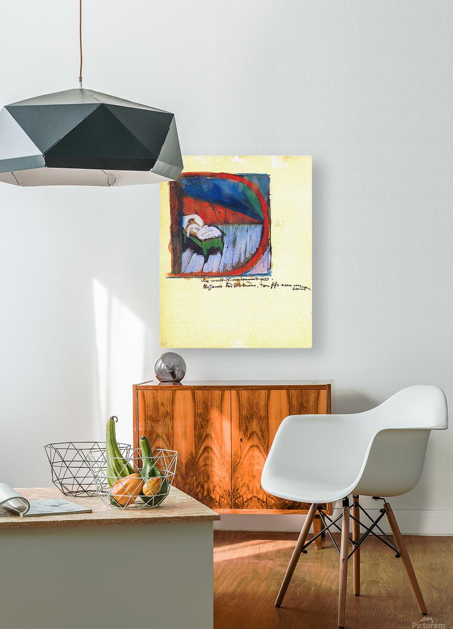 Vignette D by Franz Marc  HD Metal print with Floating Frame on Back