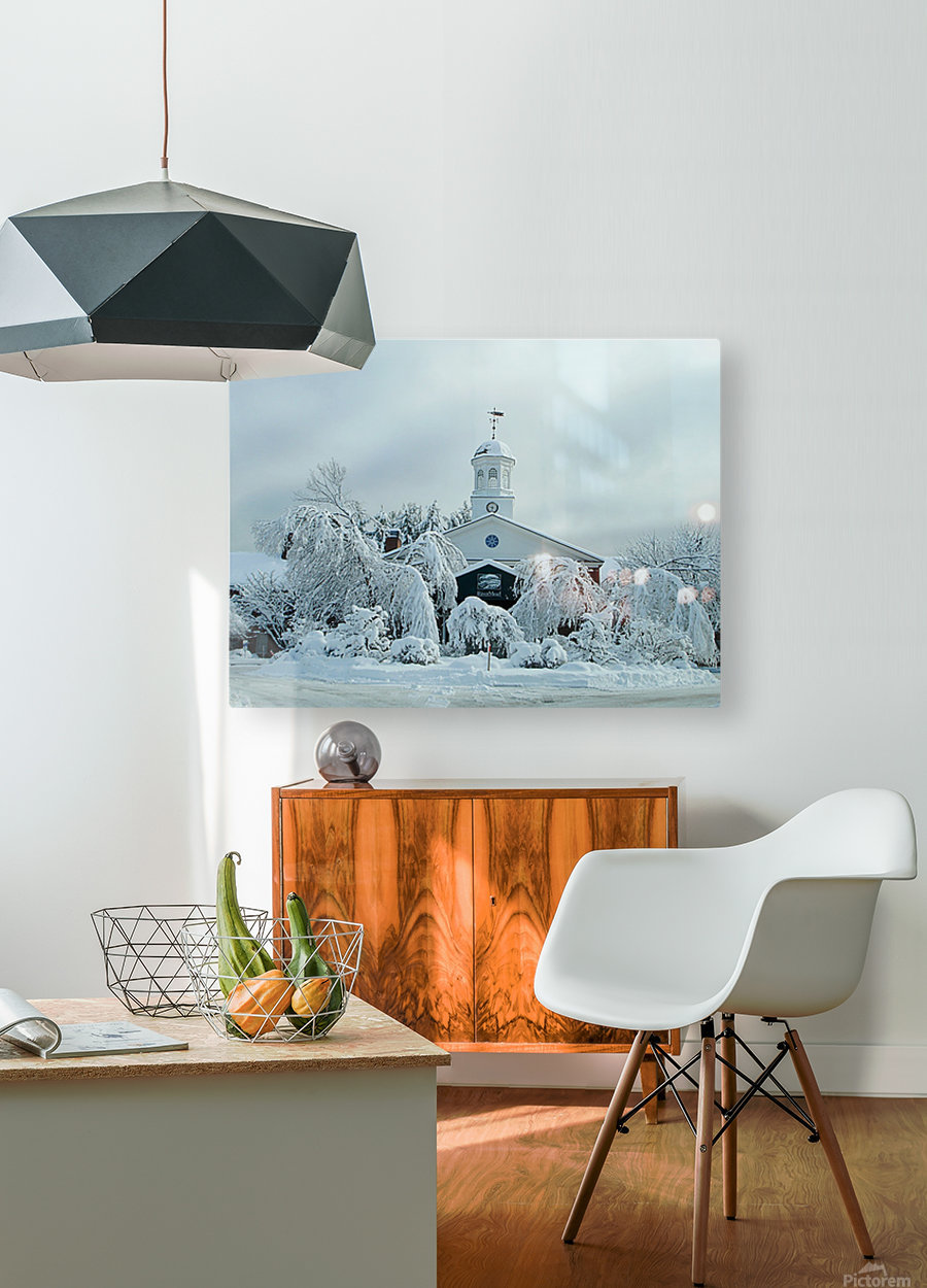 Rivermead After The Storm - Peterborough NH  HD Metal print with Floating Frame on Back