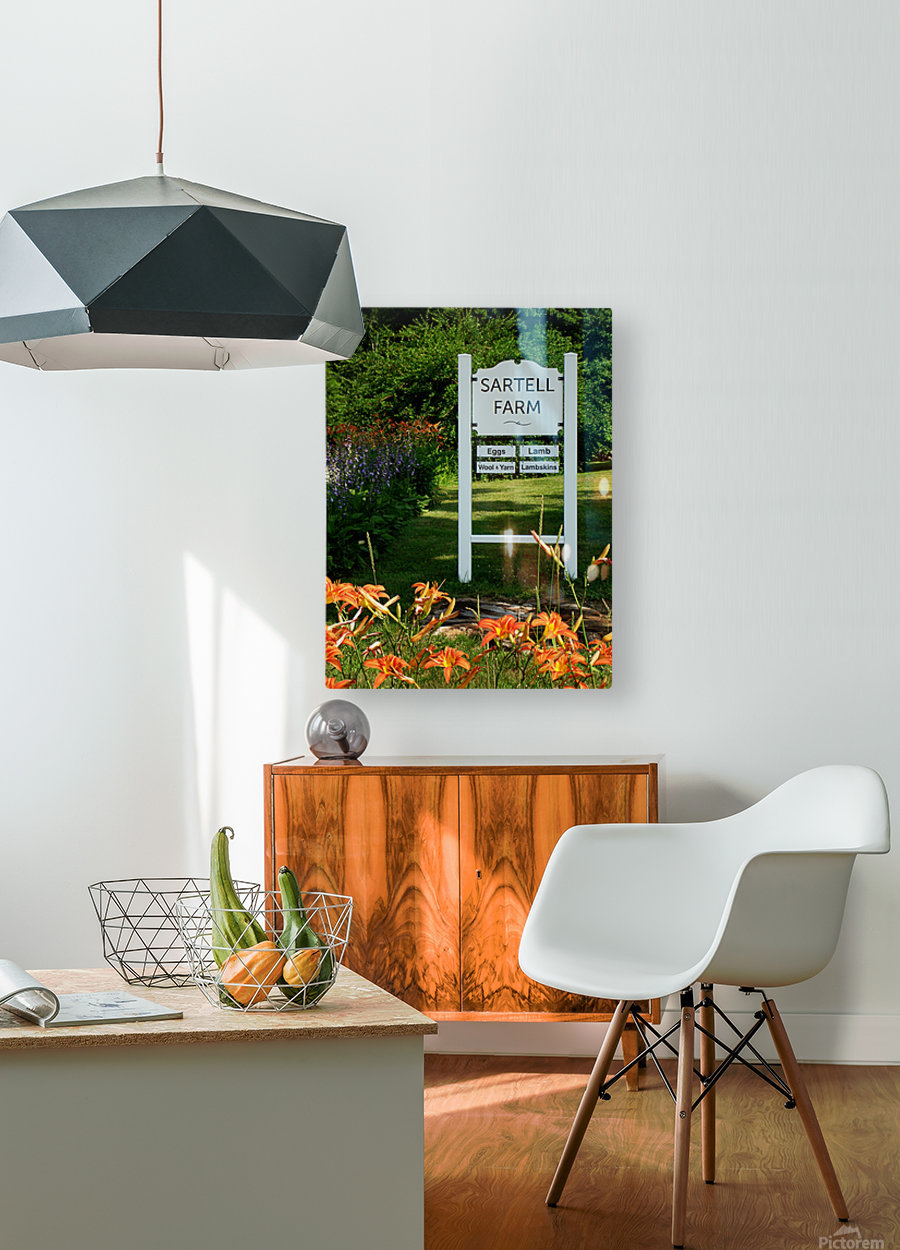 New Hampshire Farm  HD Metal print with Floating Frame on Back
