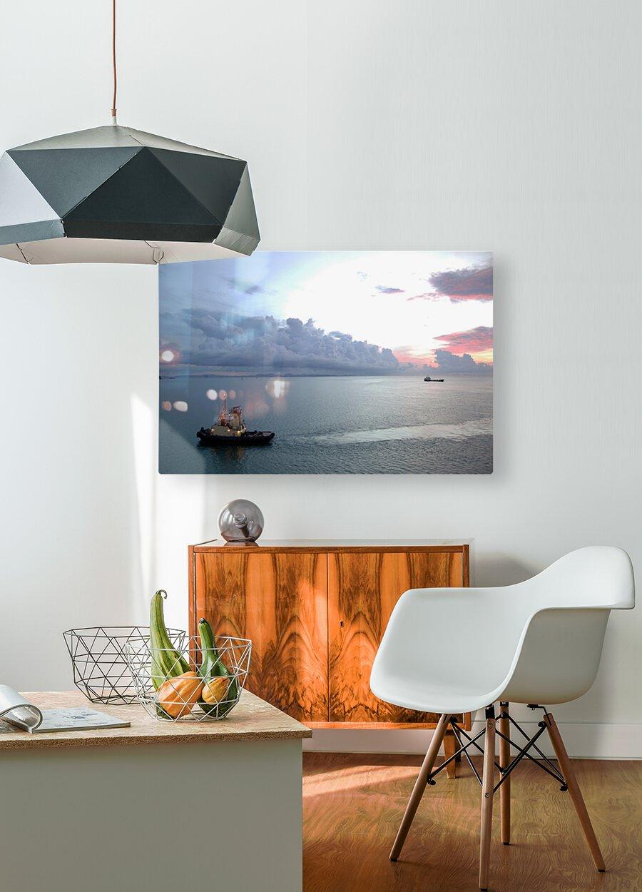 October  HD Metal print with Floating Frame on Back