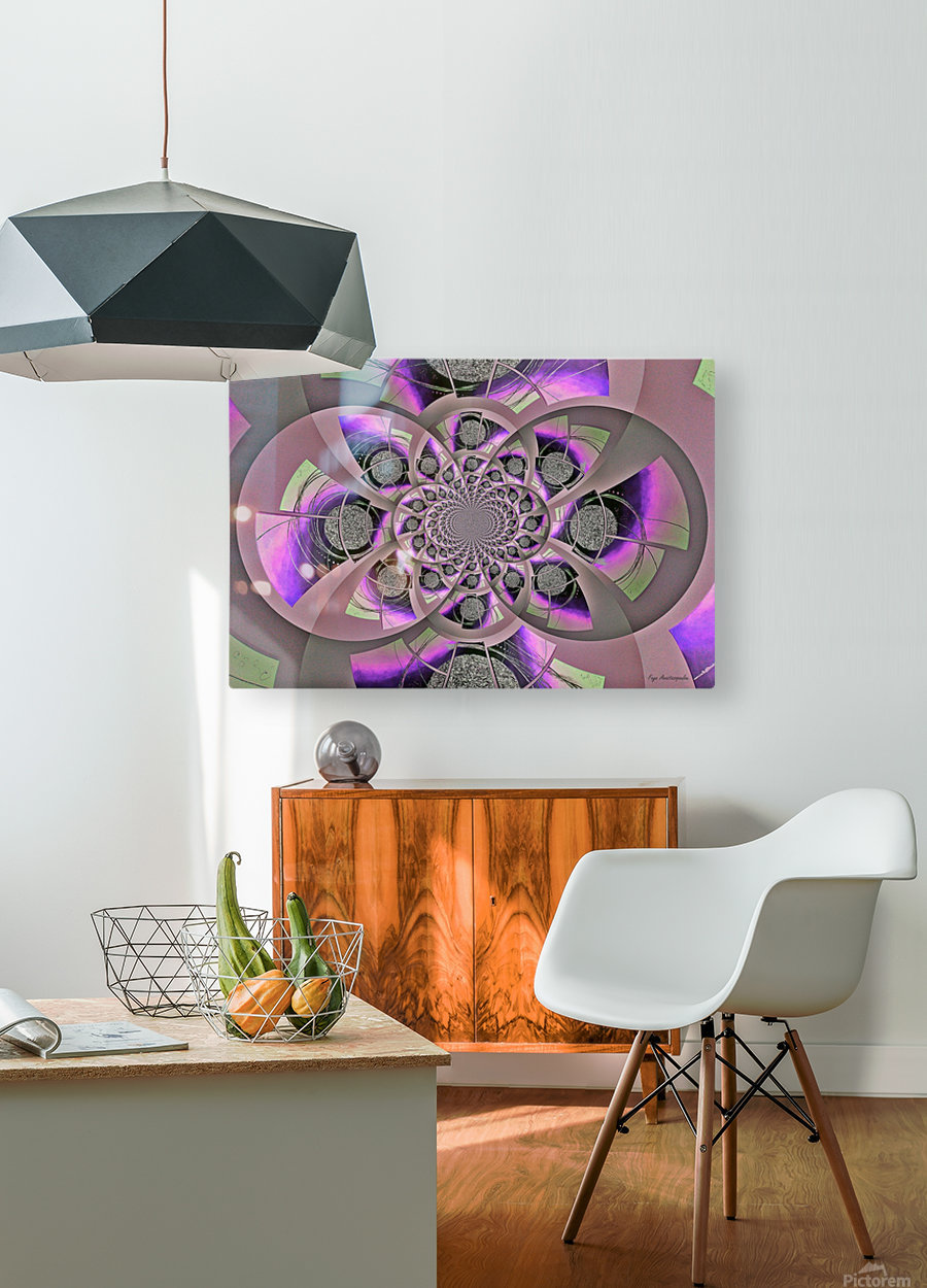Mirror Infinity Lilac  HD Metal print with Floating Frame on Back