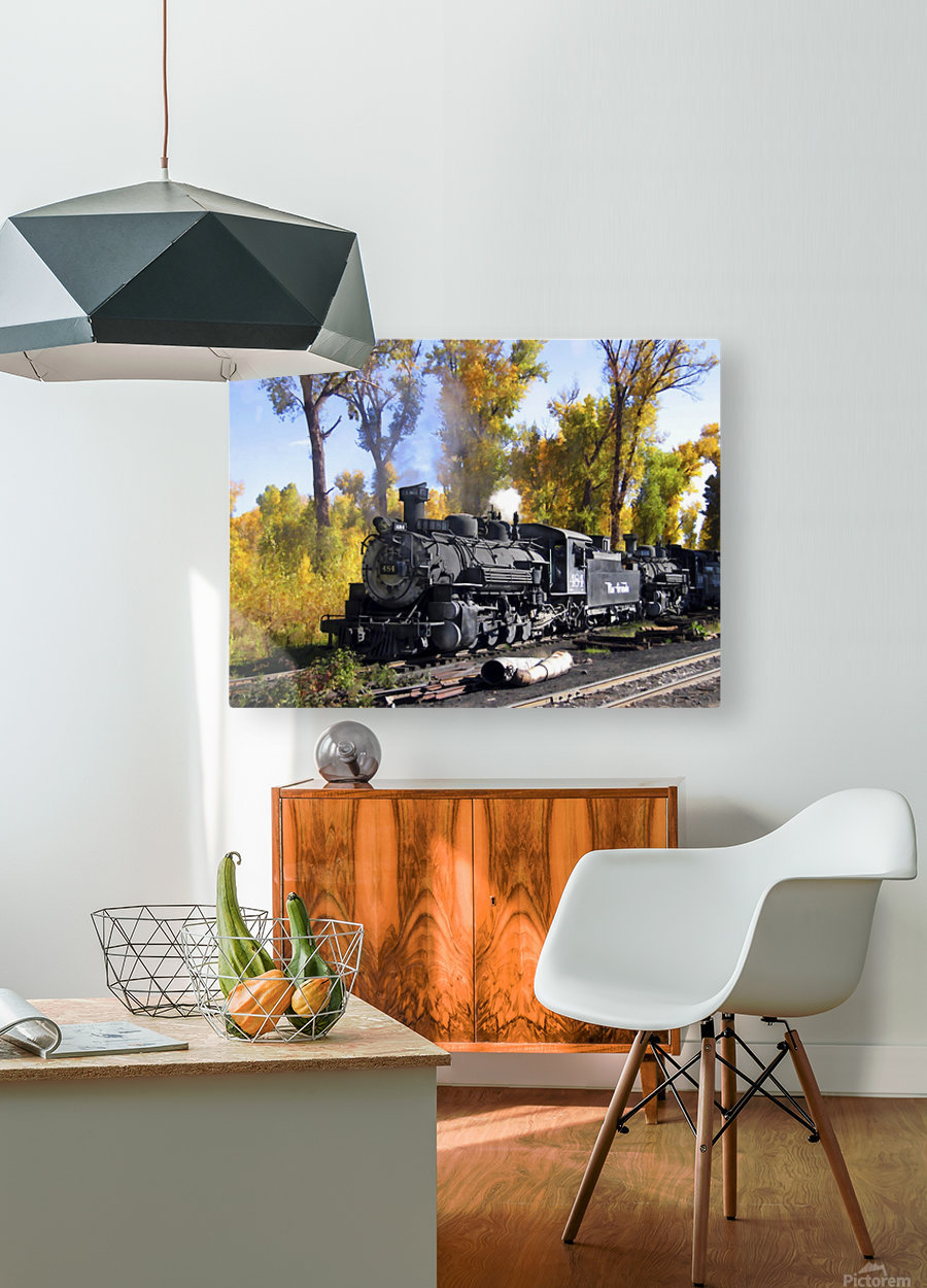 Cumbres and Toltec Railroad  HD Metal print with Floating Frame on Back
