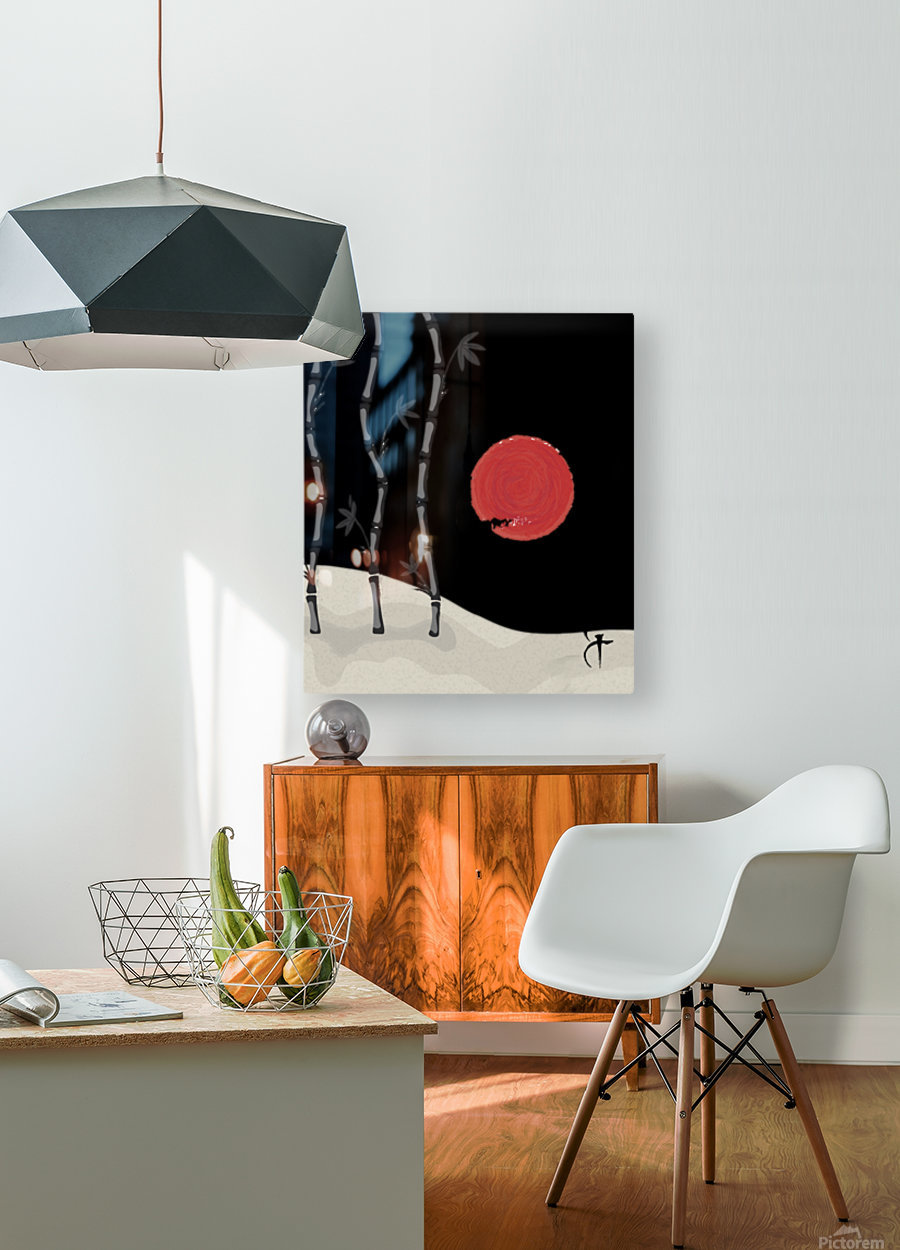 Japanese Concept 01A  HD Metal print with Floating Frame on Back