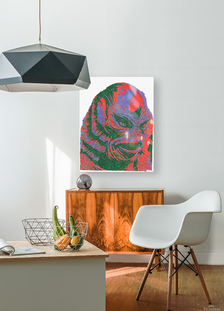 The Black Lagoon  HD Metal print with Floating Frame on Back