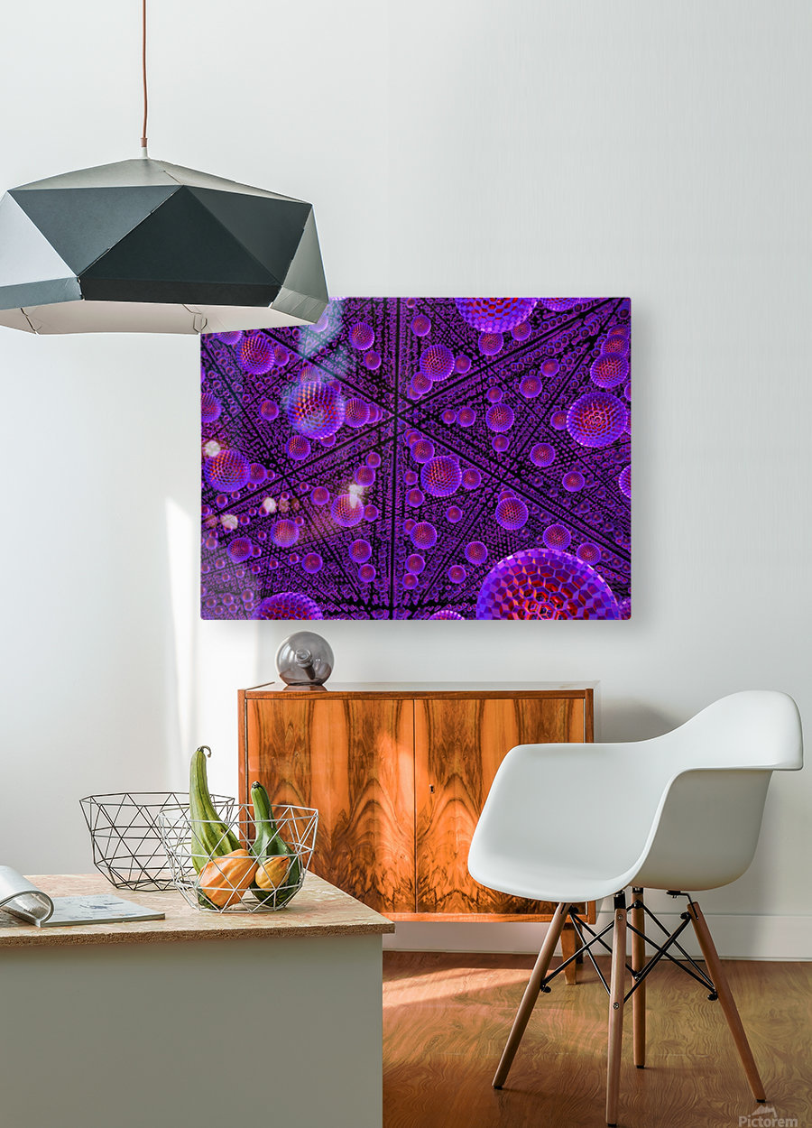 spheres combs structure regulation  HD Metal print with Floating Frame on Back