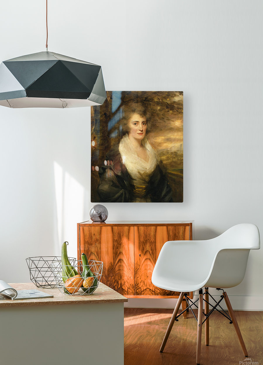 Portrait of Mrs E.Bethune  HD Metal print with Floating Frame on Back