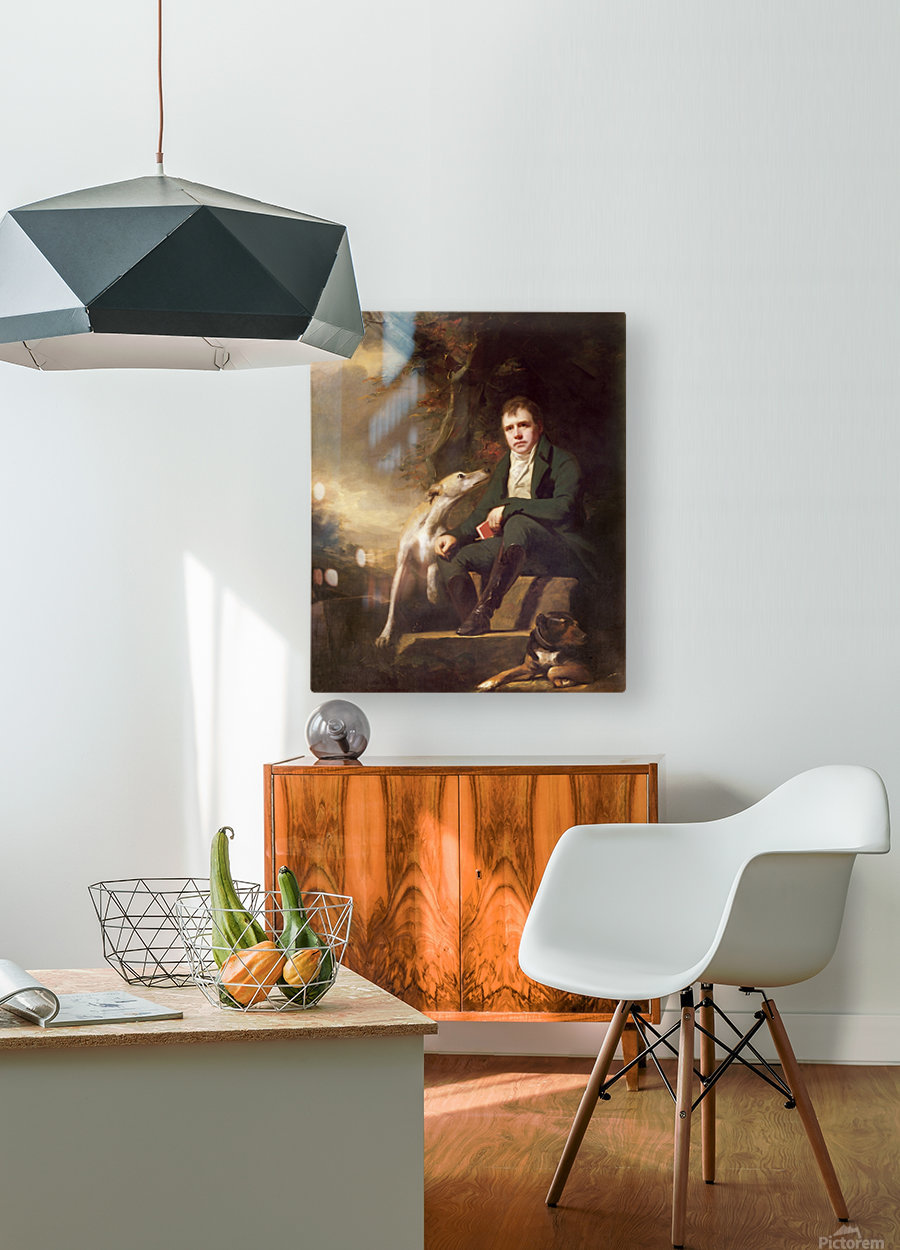 Sir Walter Scott  HD Metal print with Floating Frame on Back