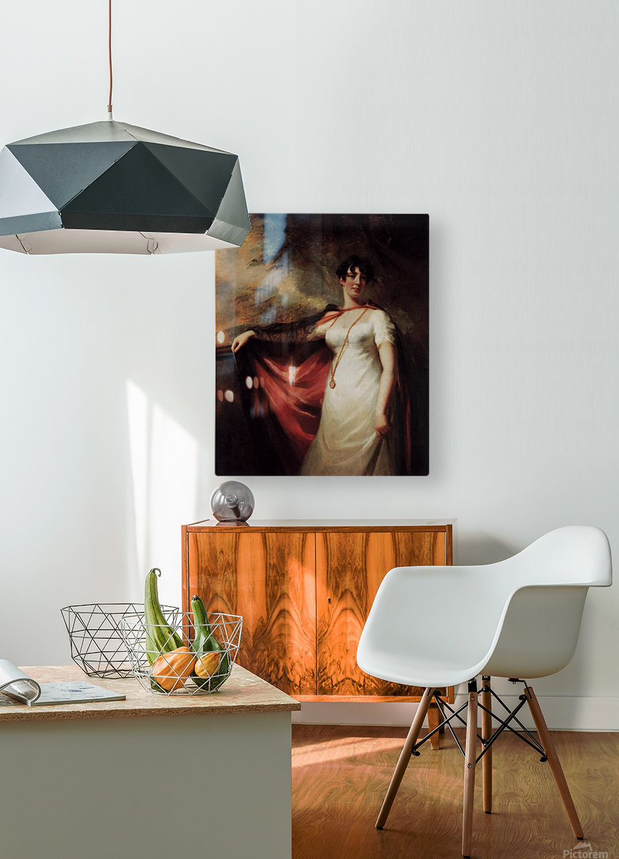 Mrs. Anne Hart  HD Metal print with Floating Frame on Back