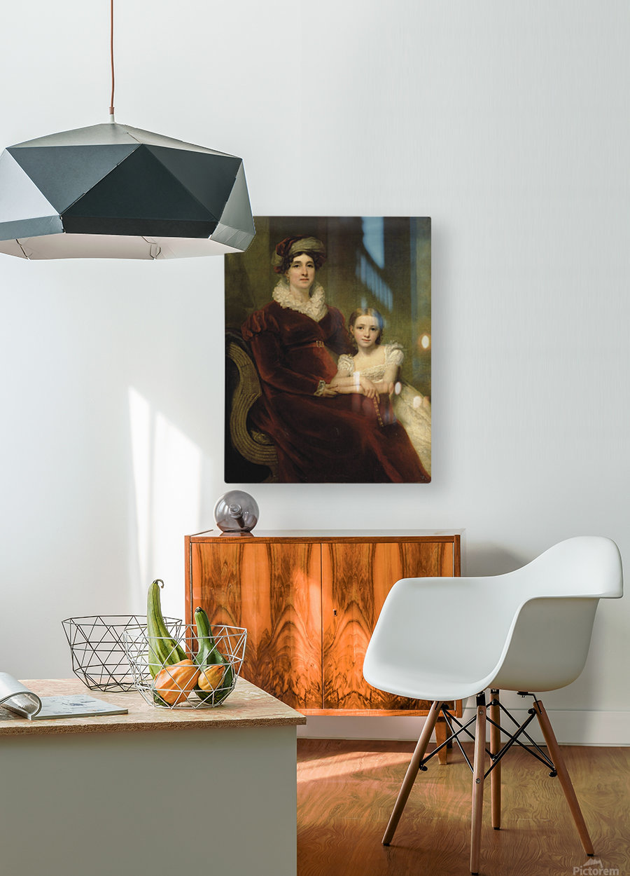 Mrs.Alexander Allan with her granddaughter  HD Metal print with Floating Frame on Back