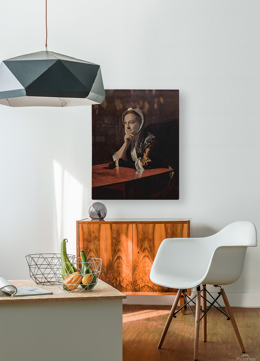 An old lady  HD Metal print with Floating Frame on Back