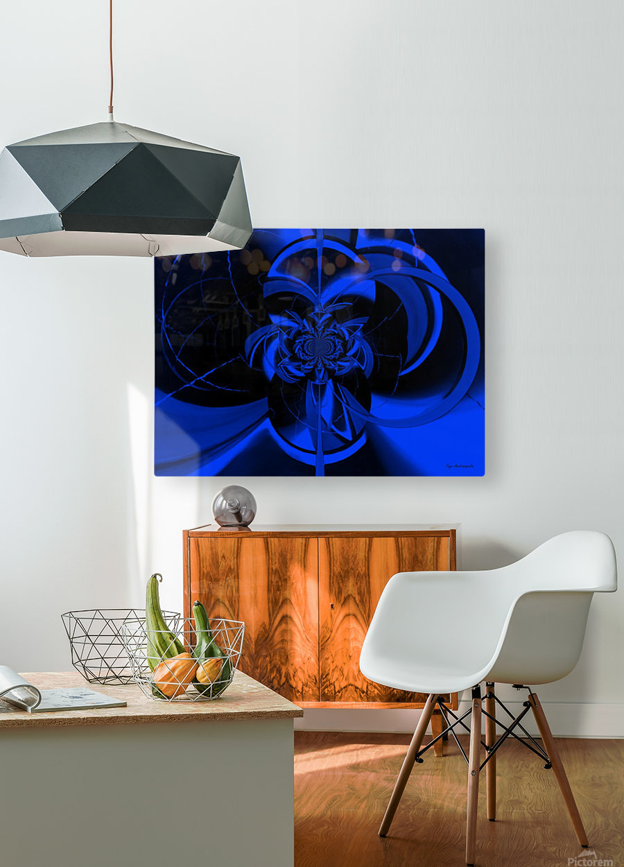Hypnotic Sapphire  HD Metal print with Floating Frame on Back