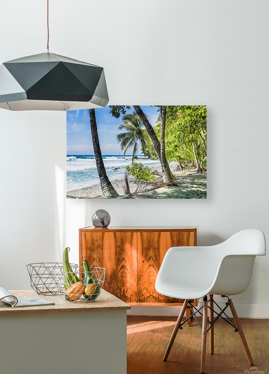 Costa rican beach Osa Peninsula Costa Rica  HD Metal print with Floating Frame on Back