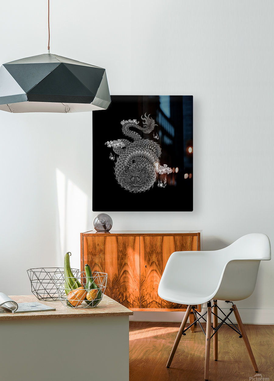 Chinese Concept 03A  HD Metal print with Floating Frame on Back