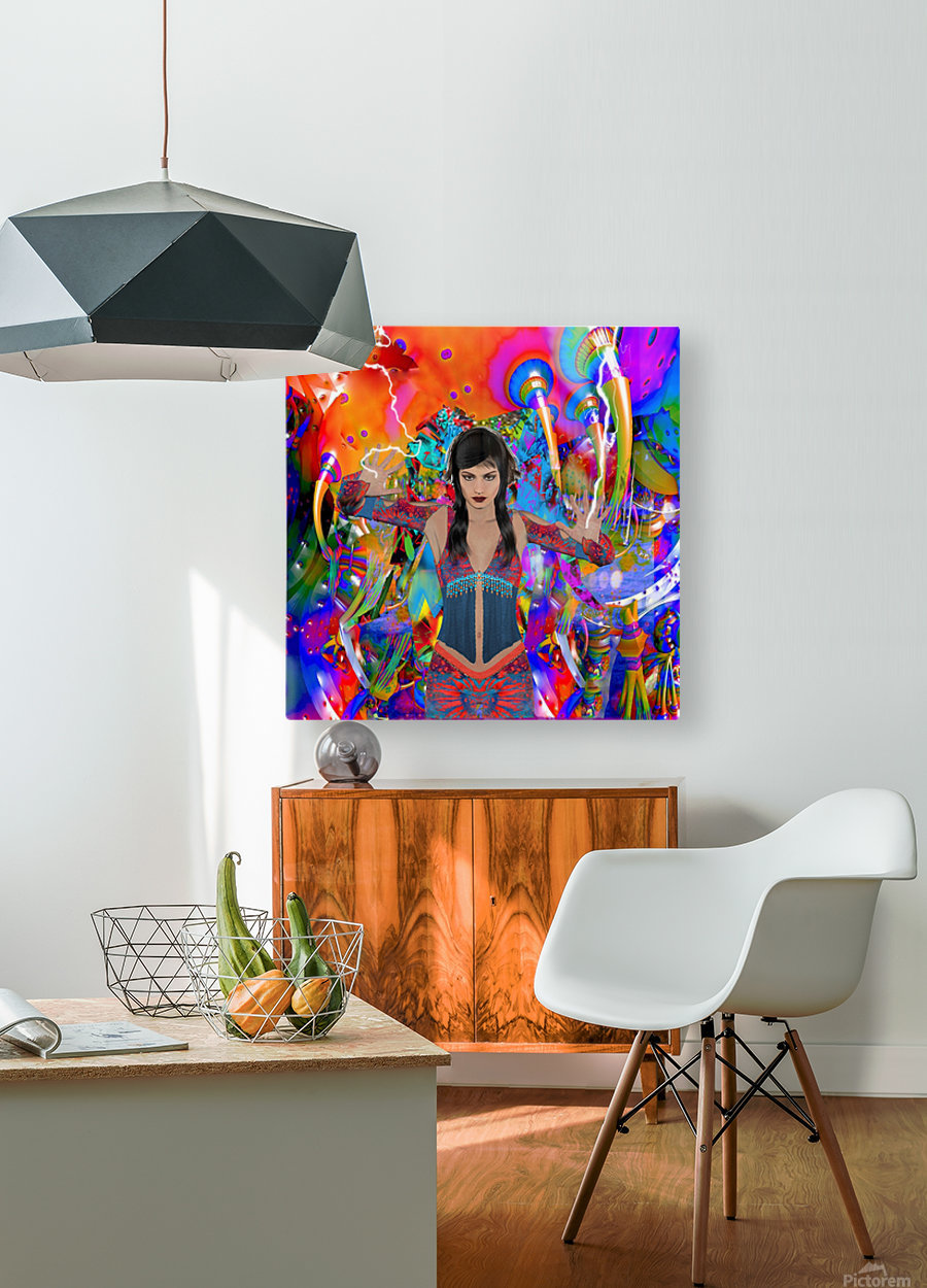 Electric Traveler  HD Metal print with Floating Frame on Back