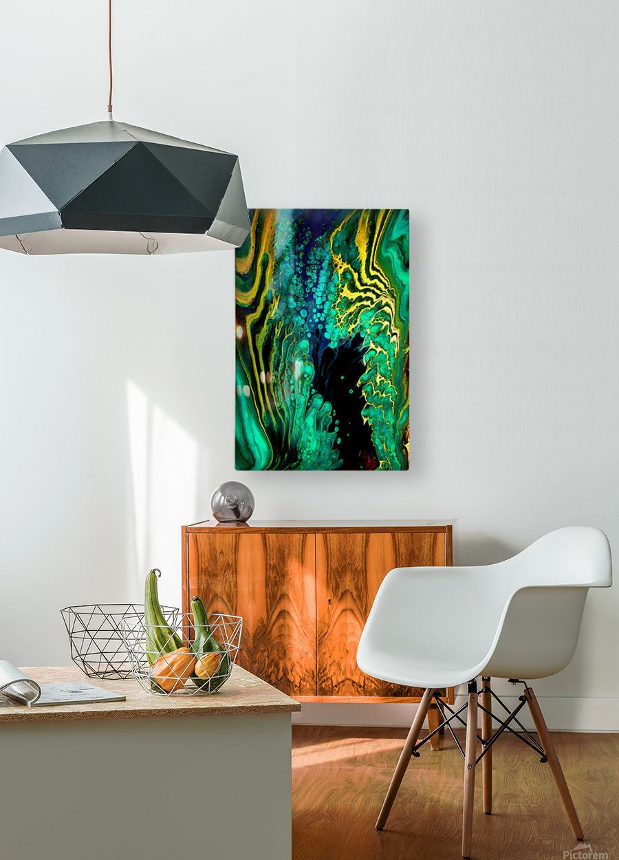 Earth Frequencies  HD Metal print with Floating Frame on Back