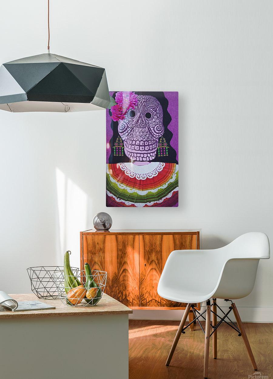 la dama  HD Metal print with Floating Frame on Back