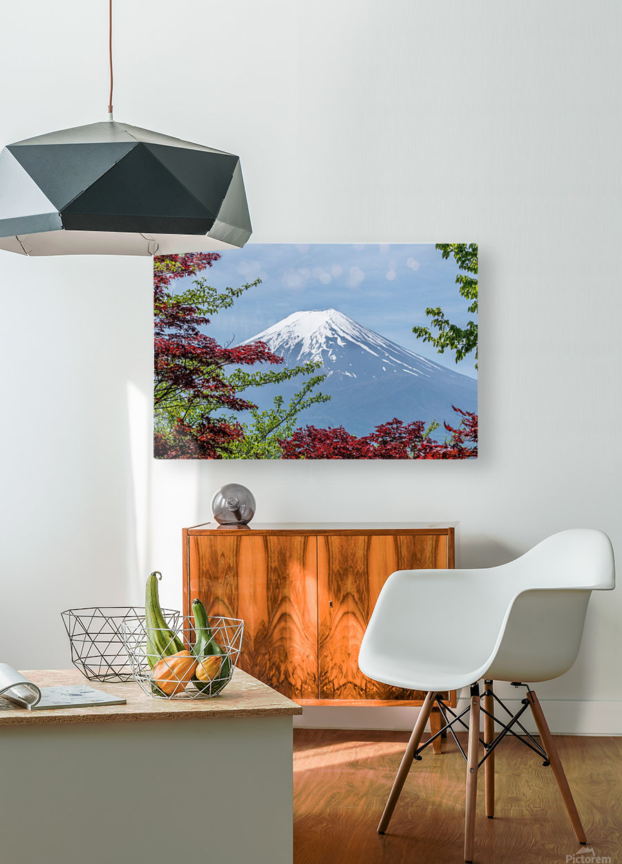 mountain mount landscape japanese  HD Metal print with Floating Frame on Back