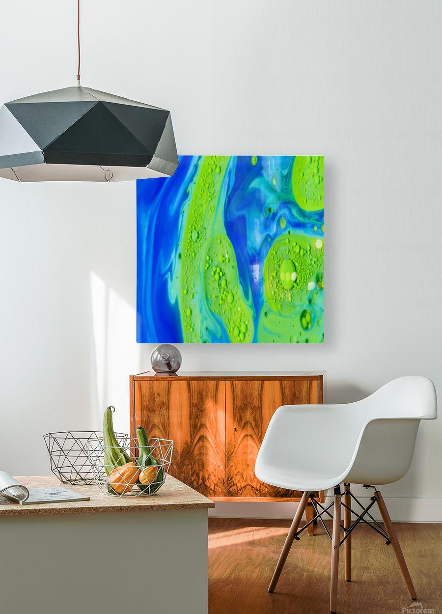 Art Swirls  HD Metal print with Floating Frame on Back