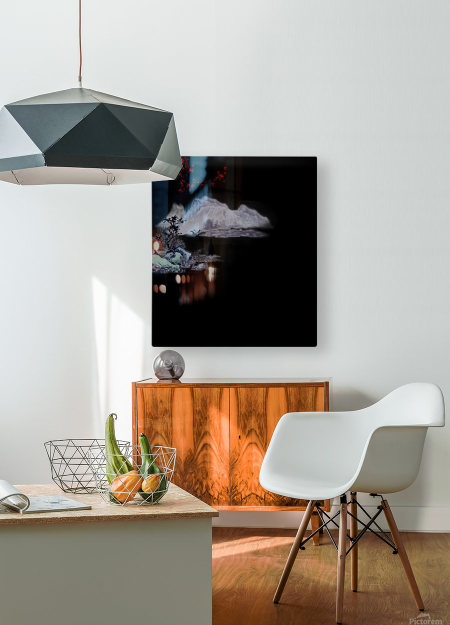 Chinese Concept 19A  HD Metal print with Floating Frame on Back