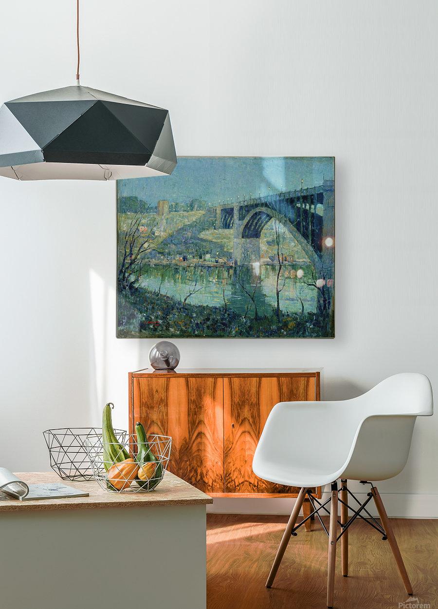 Spring Night Harlem River  HD Metal print with Floating Frame on Back