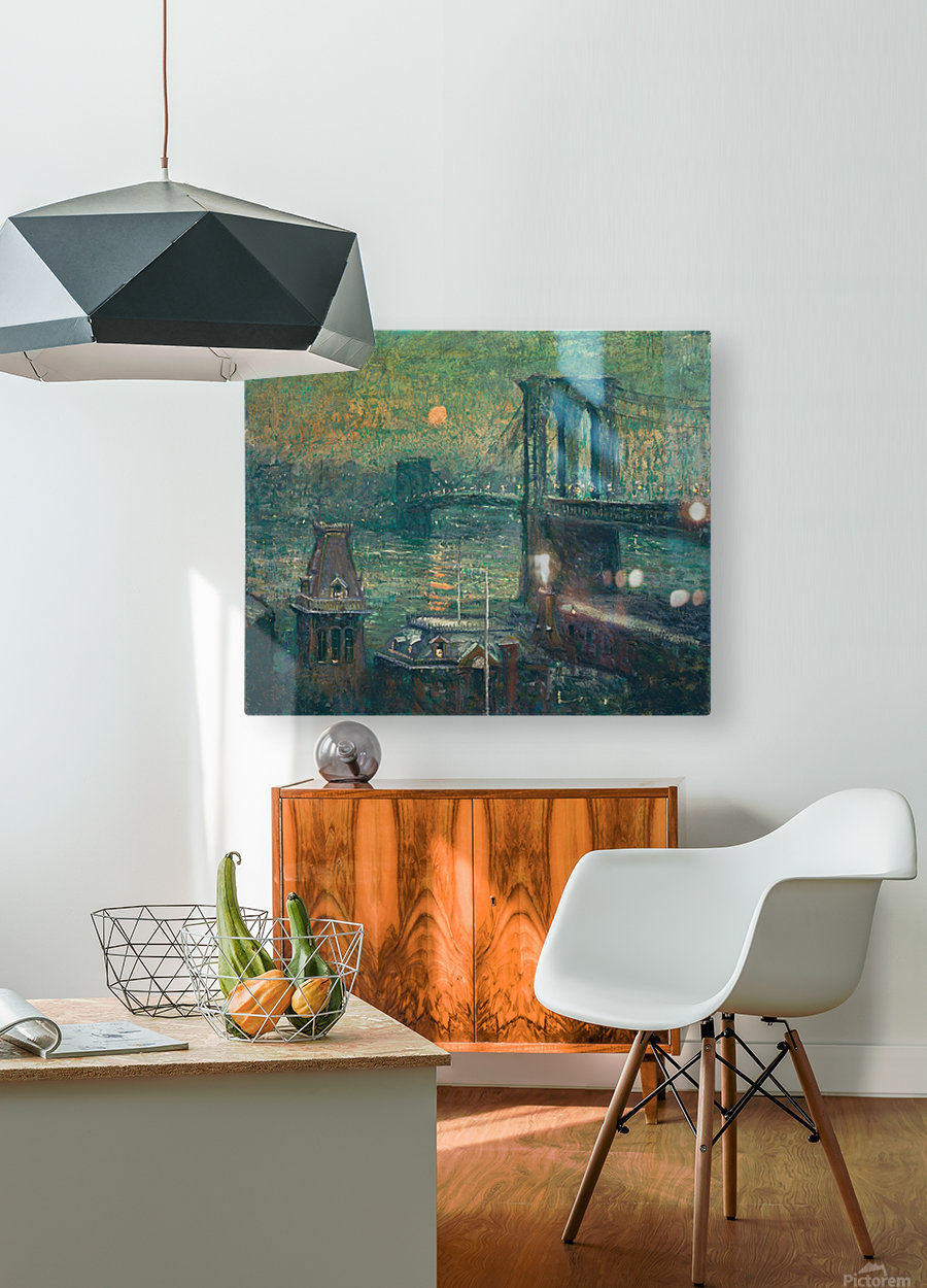 Moon the seine  HD Metal print with Floating Frame on Back