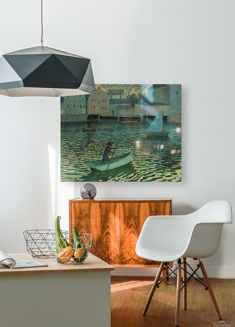 Boat in the water  HD Metal print with Floating Frame on Back