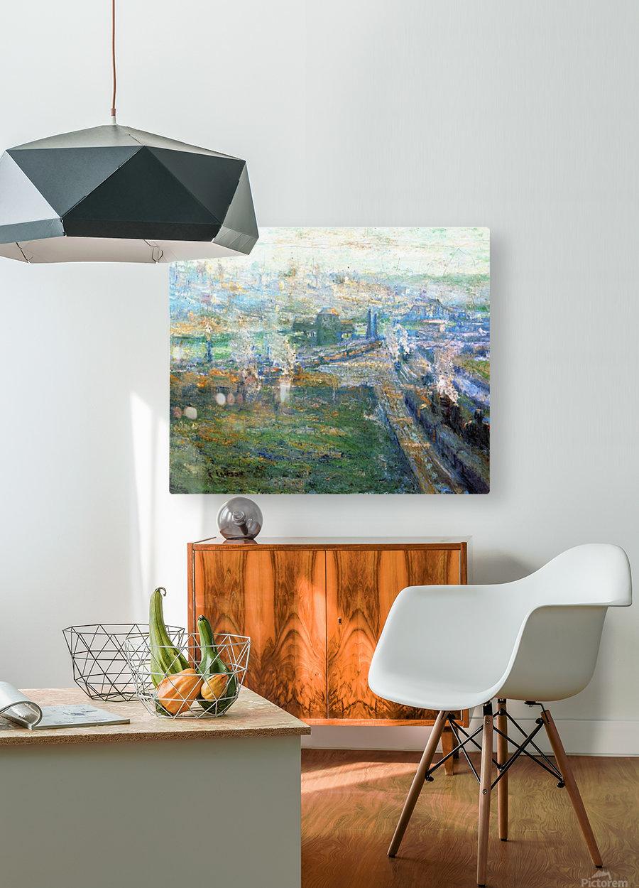 City landscape  HD Metal print with Floating Frame on Back