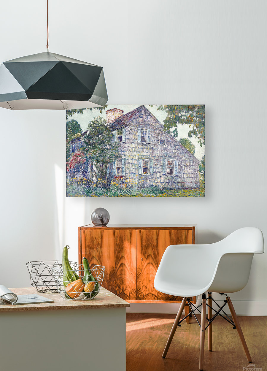 Hassam House  HD Metal print with Floating Frame on Back