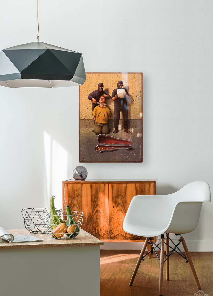 Violon  HD Metal print with Floating Frame on Back