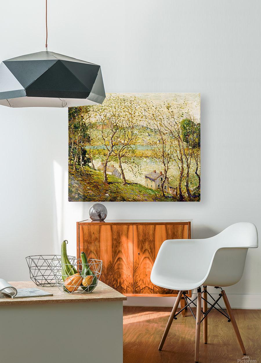 Springtime, Harlem River  HD Metal print with Floating Frame on Back