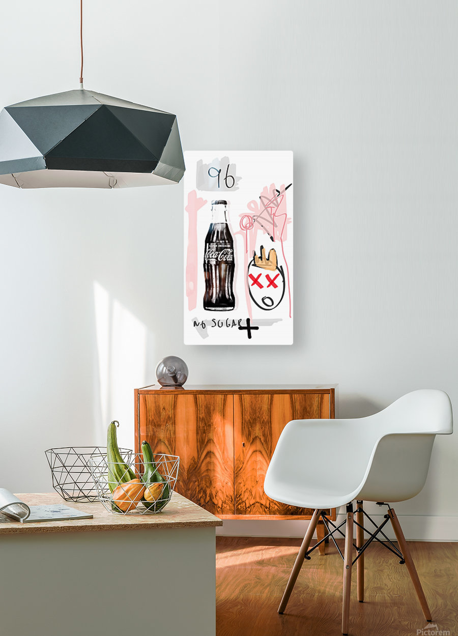 Coca Cola  HD Metal print with Floating Frame on Back