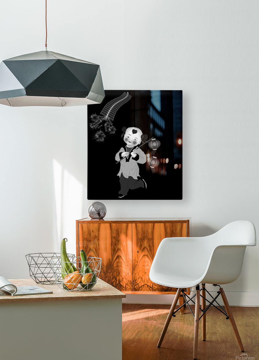 Chinese Concept 27A  HD Metal print with Floating Frame on Back