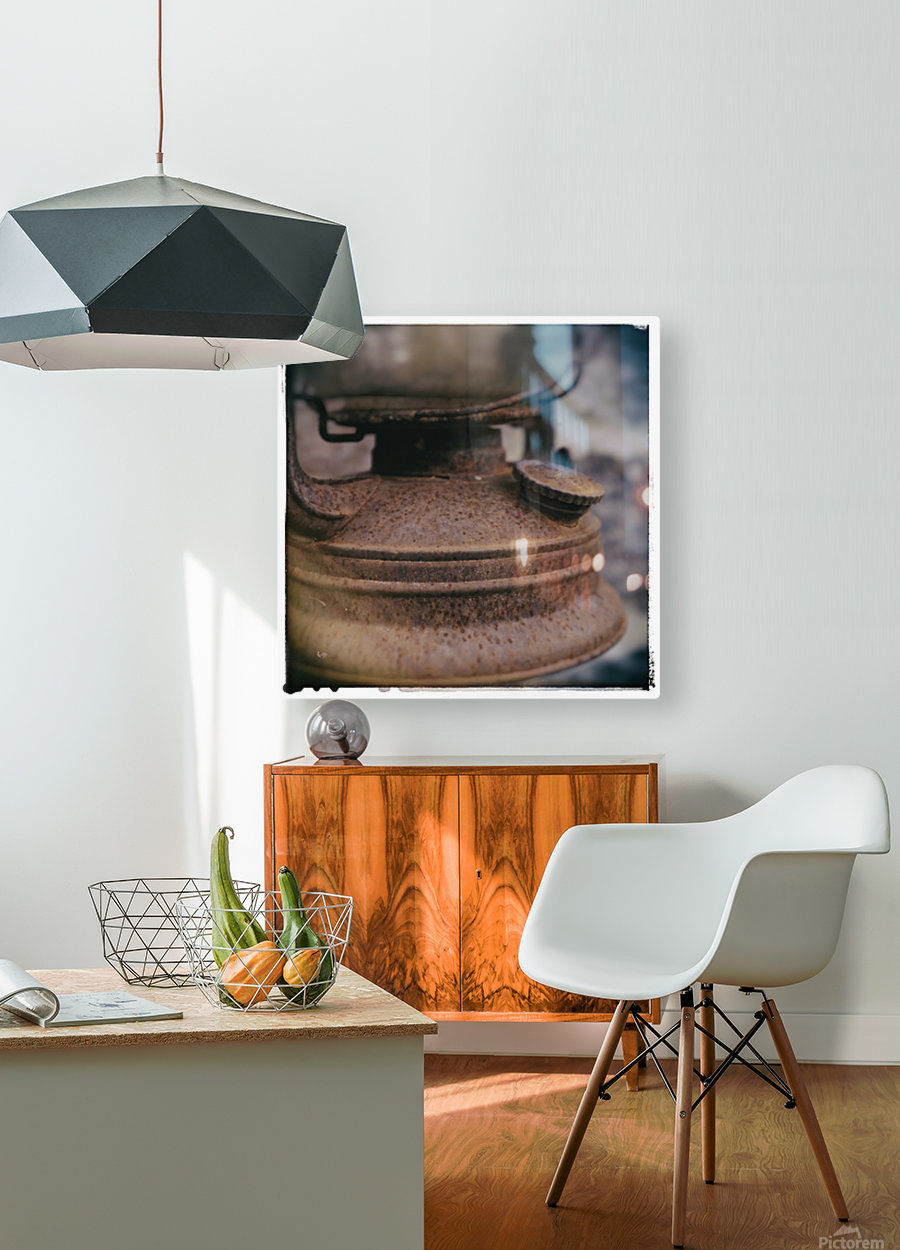 Rusted  HD Metal print with Floating Frame on Back