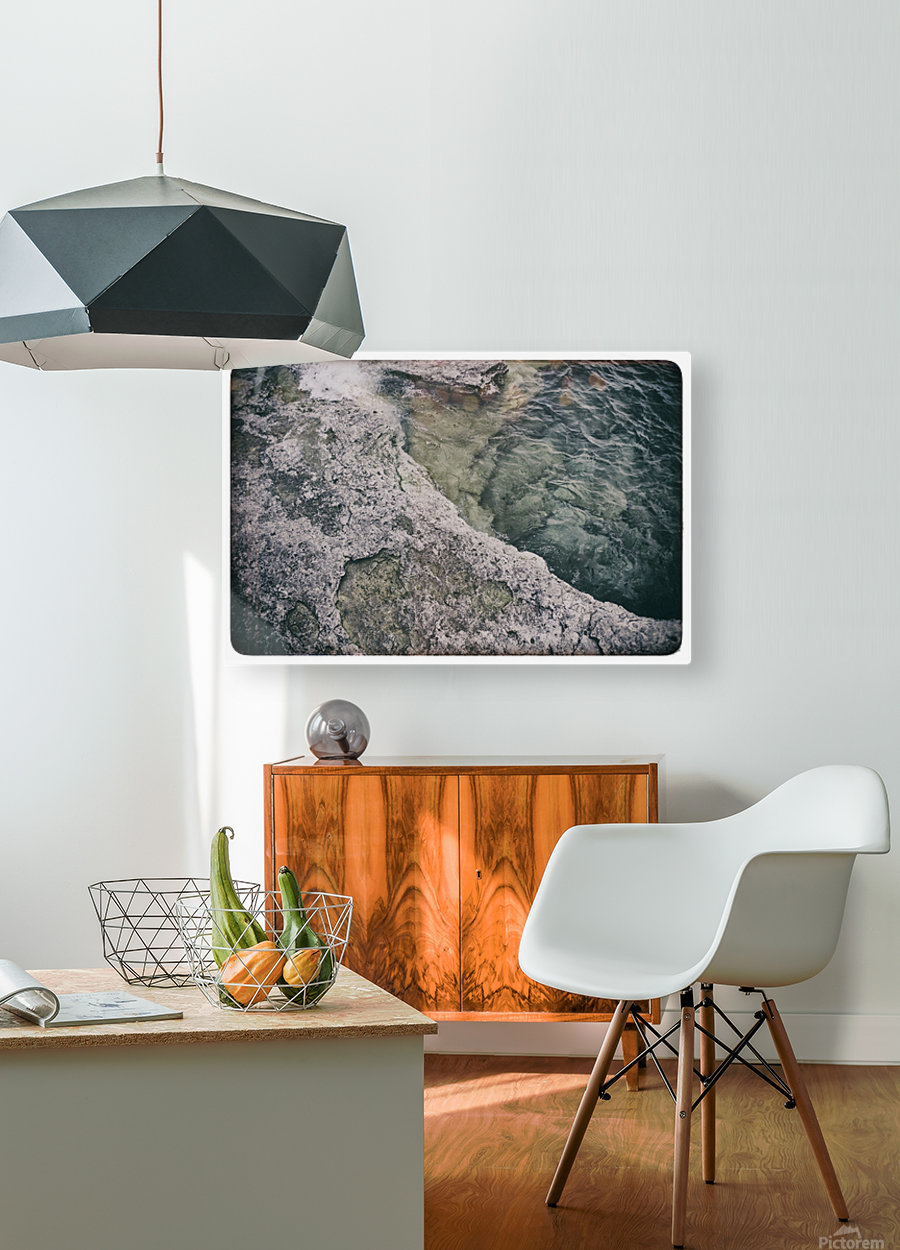 Along the water  HD Metal print with Floating Frame on Back