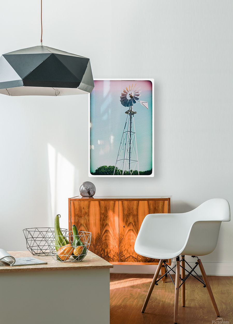 Windmill  HD Metal print with Floating Frame on Back