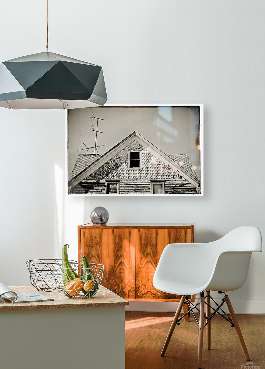 Top of the house  HD Metal print with Floating Frame on Back