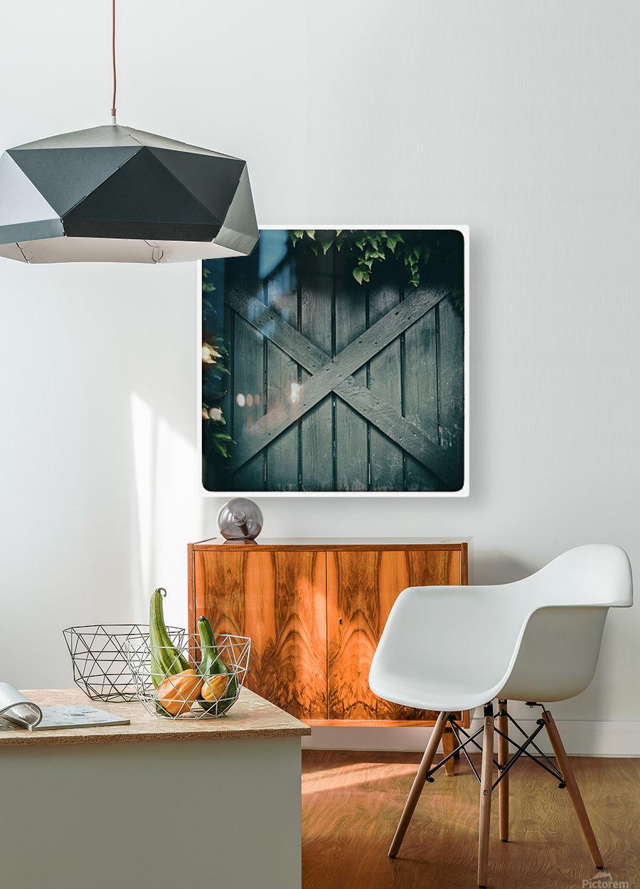 Green Doorway  HD Metal print with Floating Frame on Back