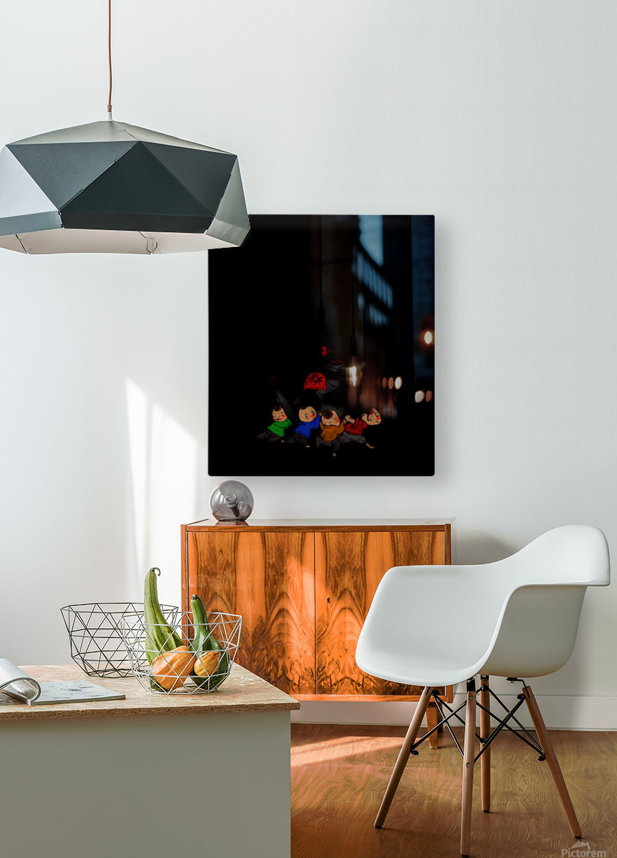Chinese Concept 30A  HD Metal print with Floating Frame on Back