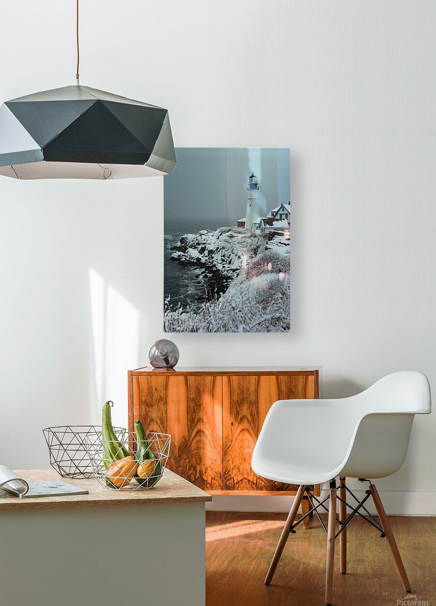 Portland Head Light  HD Metal print with Floating Frame on Back