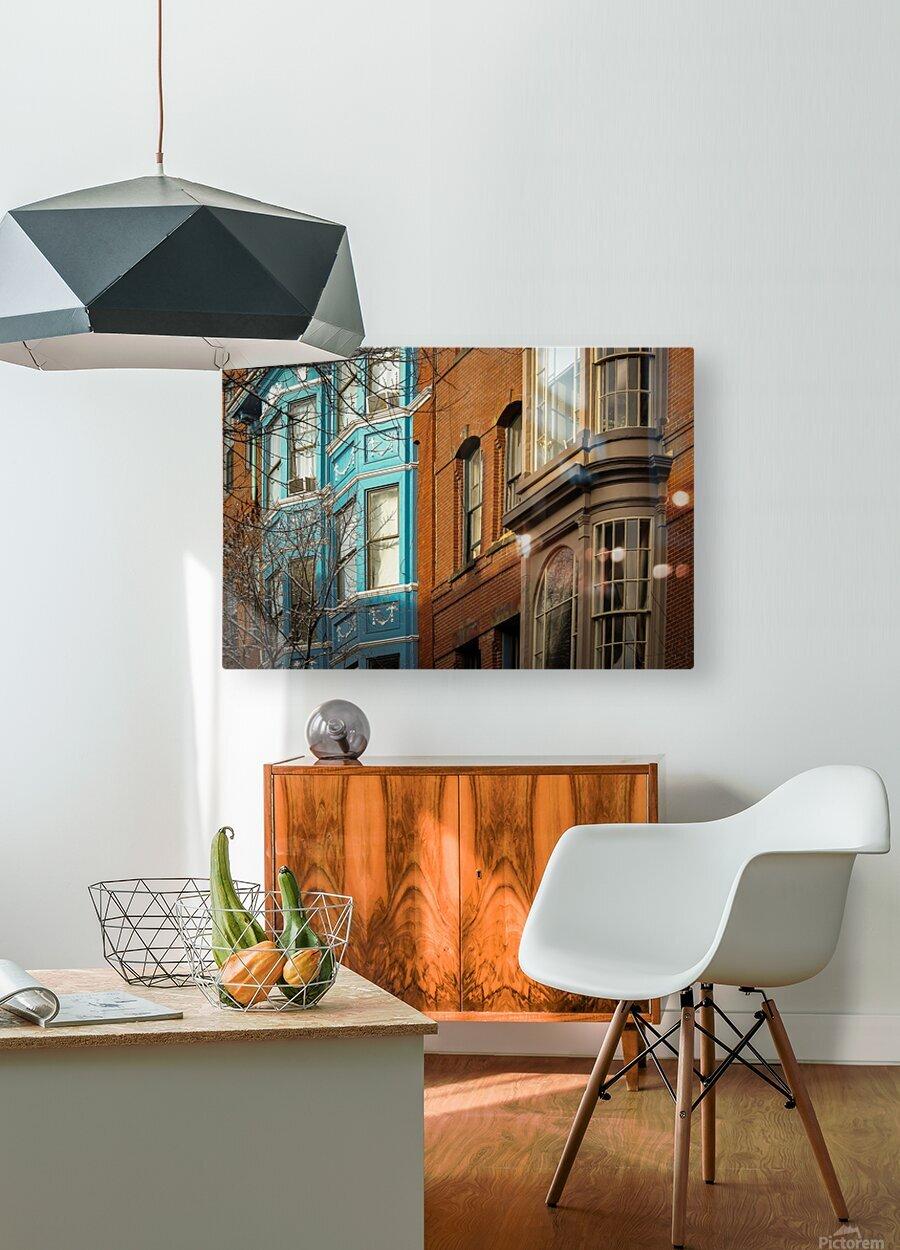 Old Port - Portland ME  HD Metal print with Floating Frame on Back