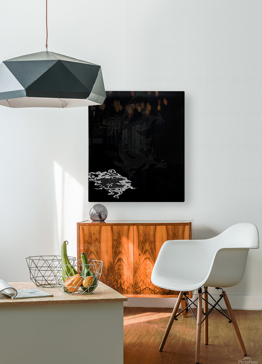 Chinese Concept 44A  HD Metal print with Floating Frame on Back