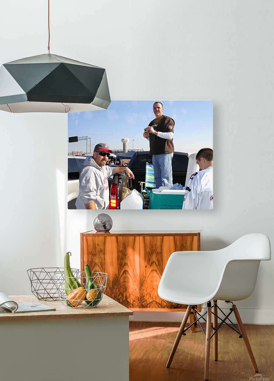 Tailgating At Gillette Stadium Foxborough Massachusetts  HD Metal print with Floating Frame on Back