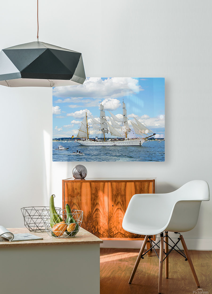 Tall Ships  Newport  Rhode Island  HD Metal print with Floating Frame on Back
