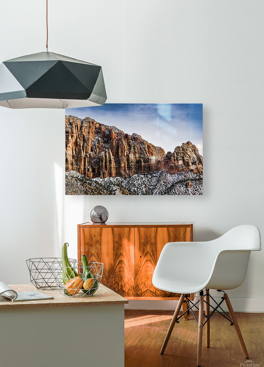 Zion National Park 3  HD Metal print with Floating Frame on Back