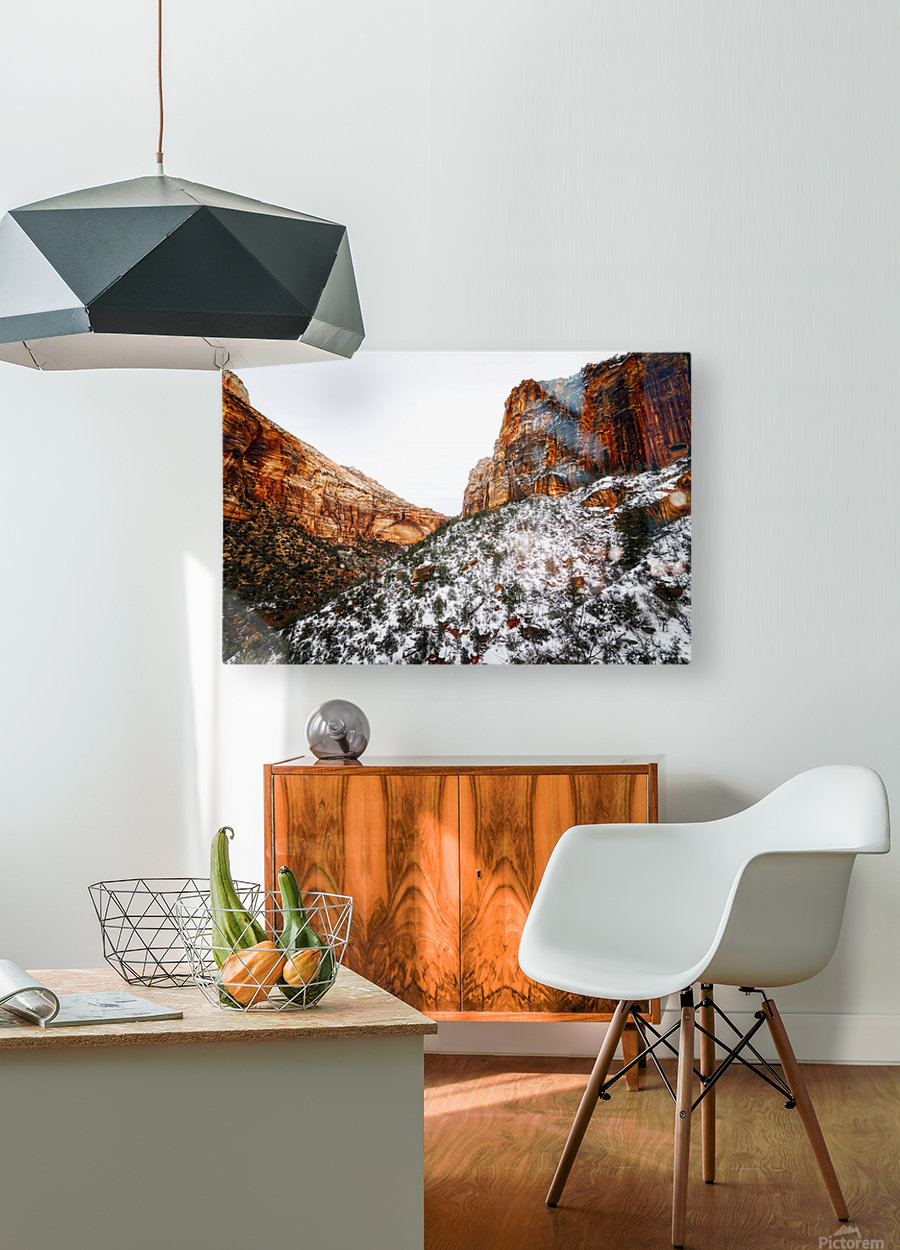 Zion National Park 1  HD Metal print with Floating Frame on Back