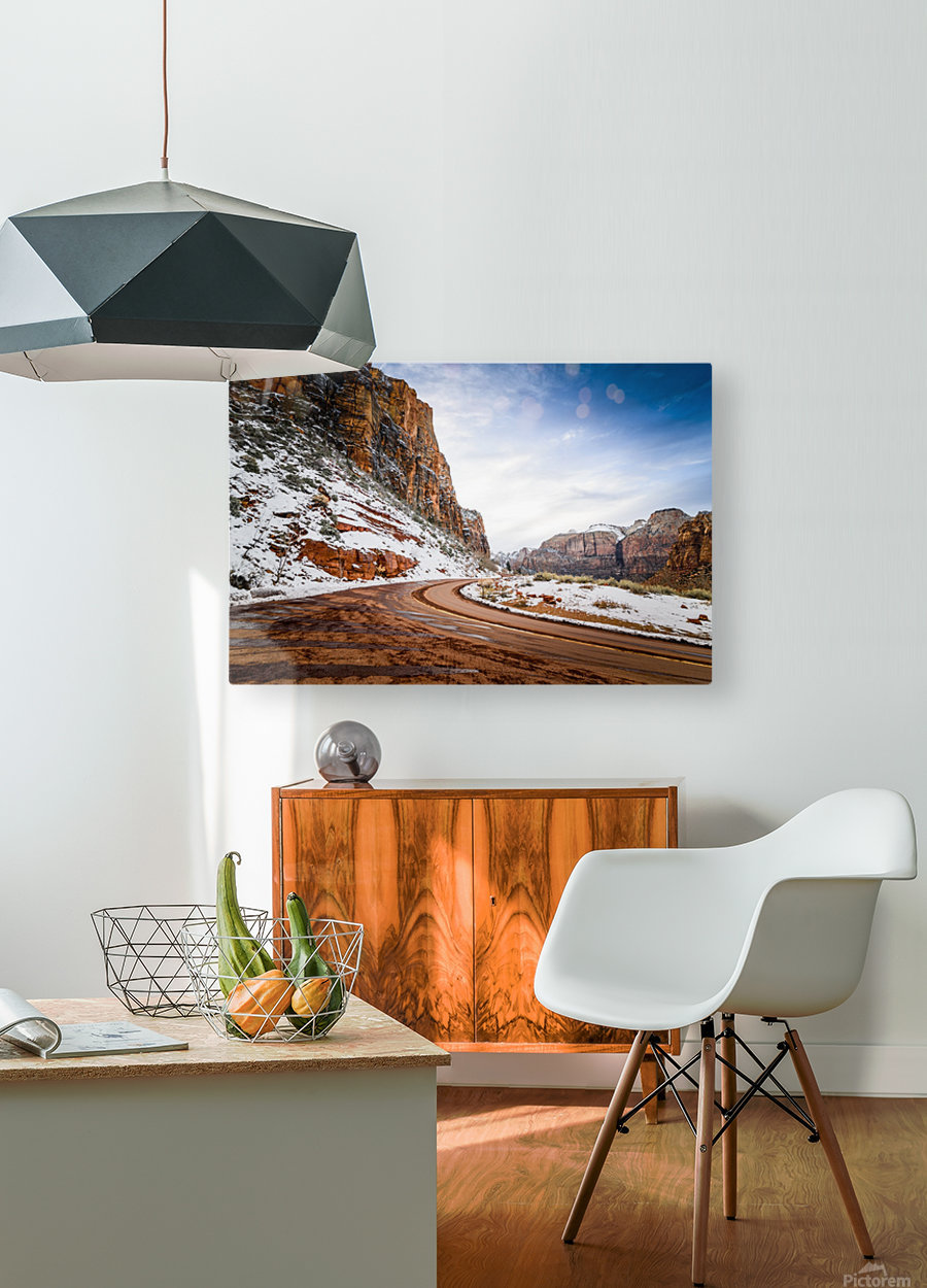 Zion National Park   HD Metal print with Floating Frame on Back